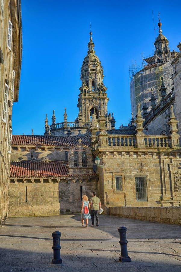 compostela de Σαντιάγο καθεδρικών ν&alp στοκ φωτογραφία
