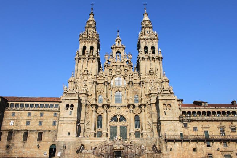 compostela de Σαντιάγο καθεδρικών ν&alp στοκ εικόνα με δικαίωμα ελεύθερης χρήσης
