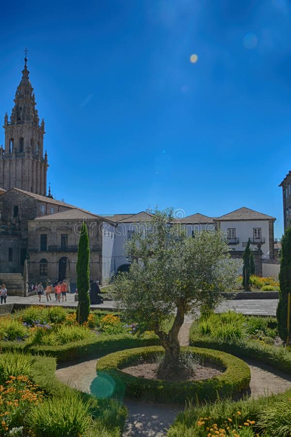 compostela de Σαντιάγο στοκ εικόνα με δικαίωμα ελεύθερης χρήσης