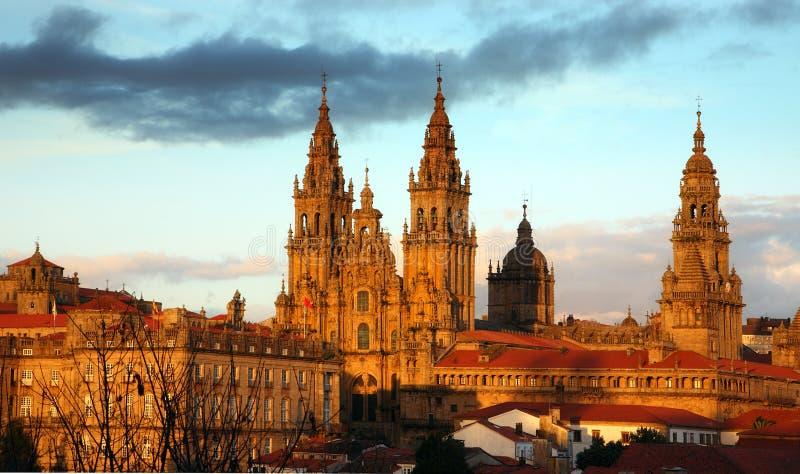 compostela de santiago собора стоковая фотография rf