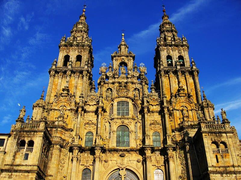 compostela santiago собора стоковое изображение rf