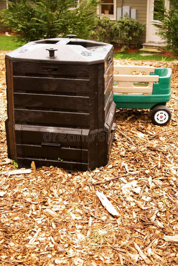 Download Composting In A Home Garden Stock Photo - Image: 4743568