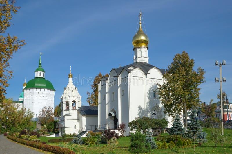 Composto de Pyatnitskoe da trindade santamente Sergius Lavra Sergiev Posad, Rússia fotografia de stock royalty free