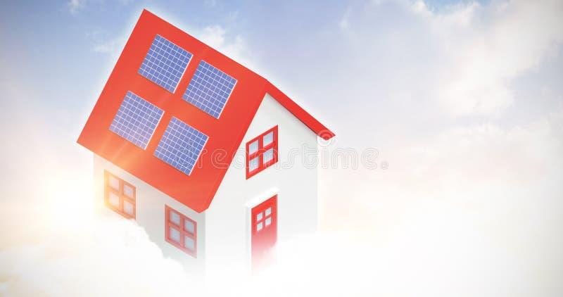 Composto di Digital della casa 3d illustrazione di stock