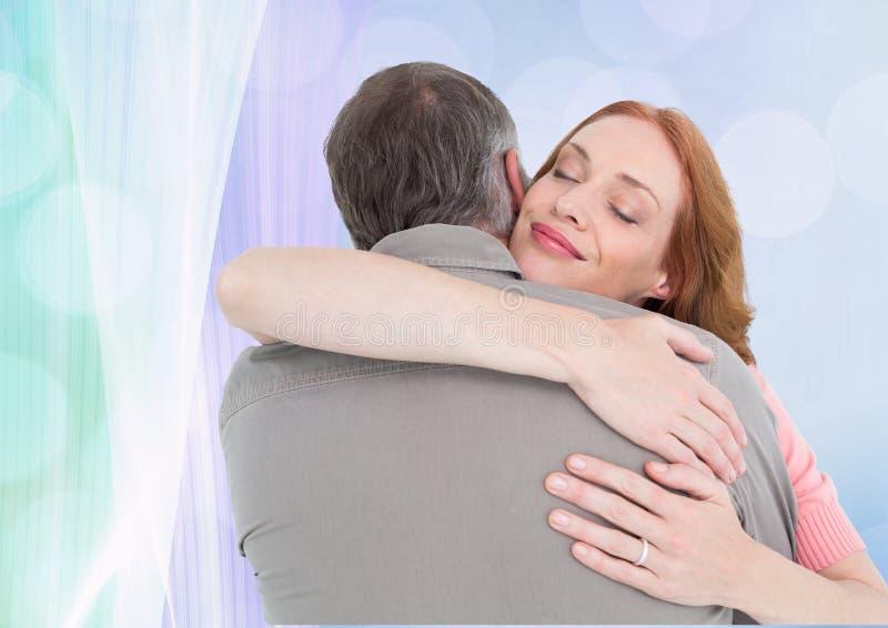 Composto di Digital delle coppie amorose royalty illustrazione gratis