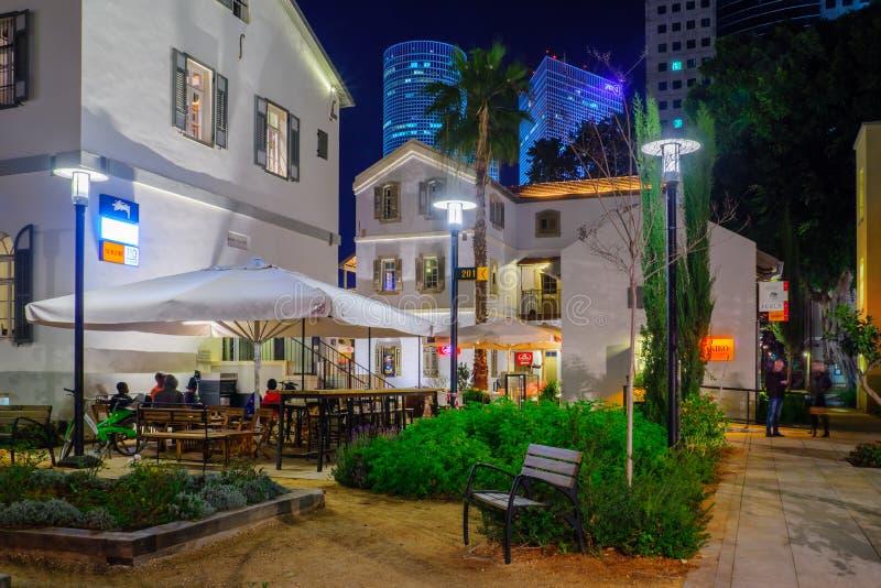 Composto di Sarona, Tel Aviv fotografia stock libera da diritti
