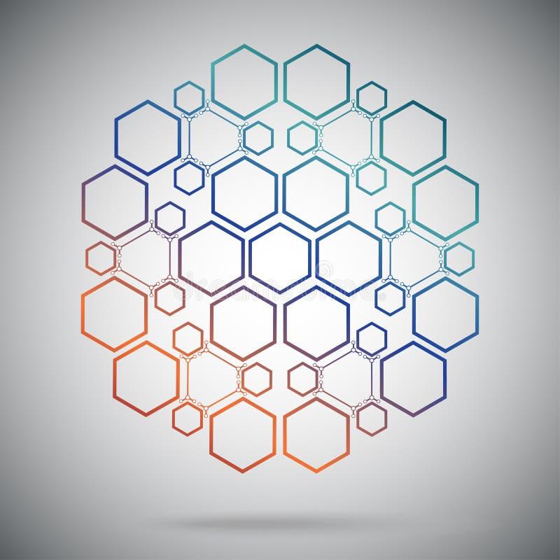 Compostos ternários sob a forma de uma esfera ilustração stock