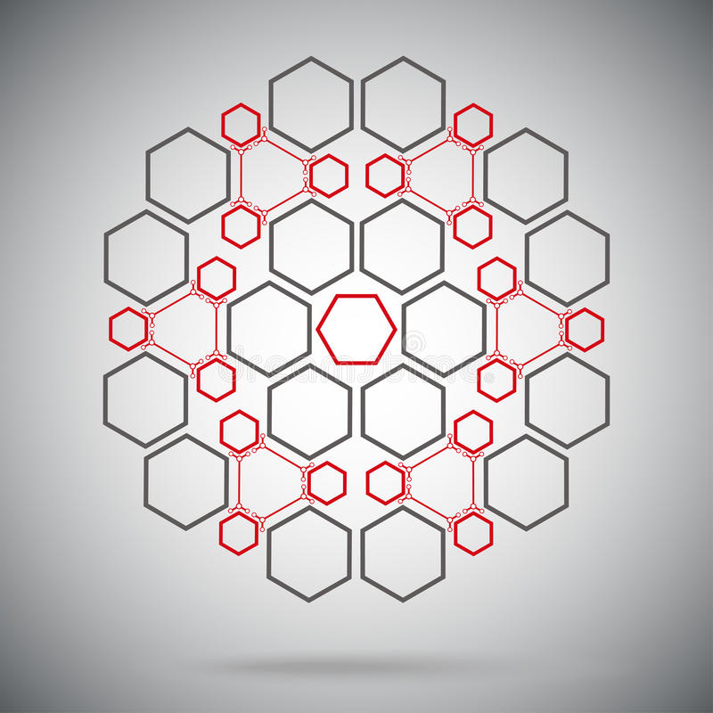 Compostos ternários sob a forma de uma esfera vermelho-cinzenta ilustração royalty free
