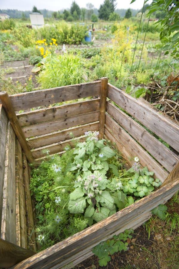 Compoststapel Arkivbild