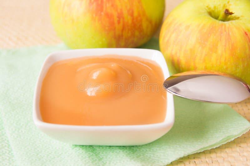 Compota de maçã imagem de stock