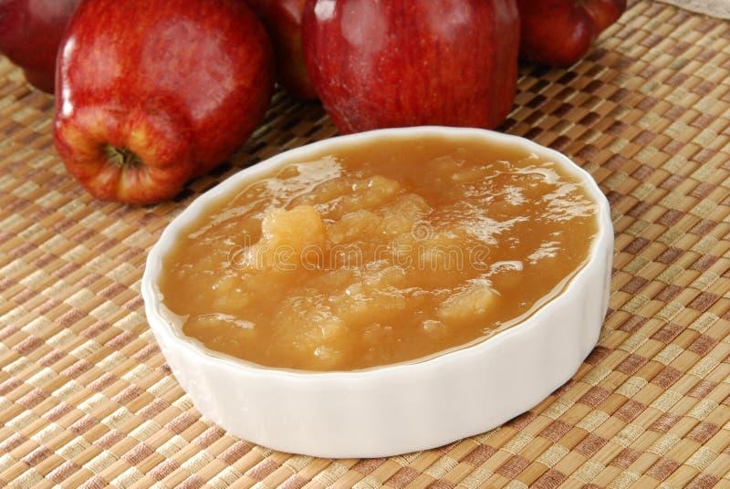 Compota de maçã fresca imagem de stock