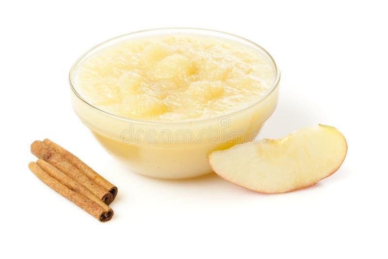 Compota de maçã orgânica fresca fotos de stock royalty free