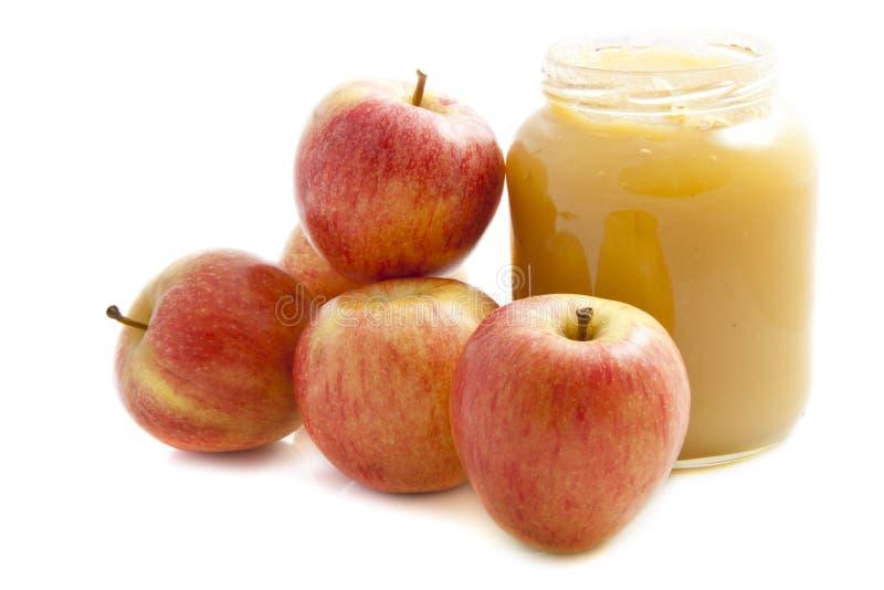 Compote de pommes photo libre de droits