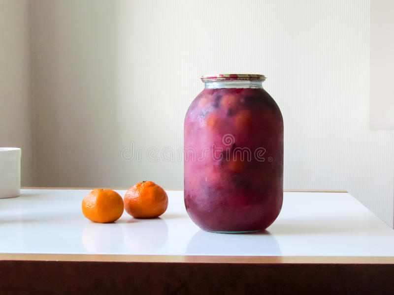 Compote jar stock image