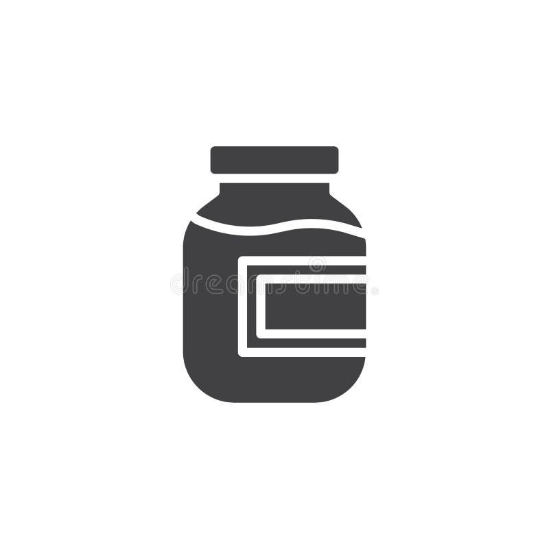 Compote, vruchtensap vectorpictogram stock illustratie