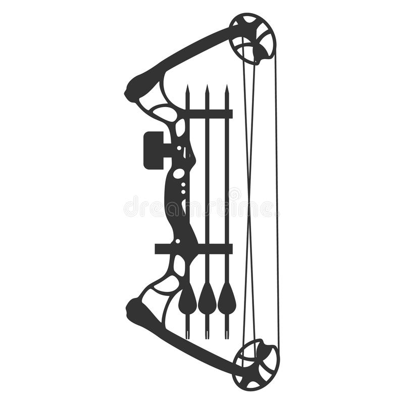 Compound bow and arrow. Modern hunting compound bow and arrow. Vector illustration vector illustration