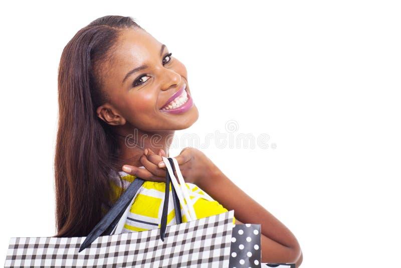 Compra afro-americano imagens de stock