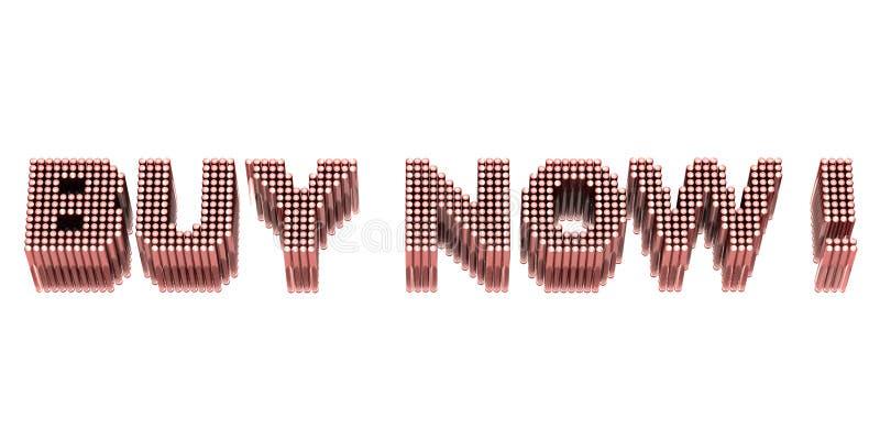 Download Compra agora! ilustração stock. Ilustração de dinheiro - 12809708