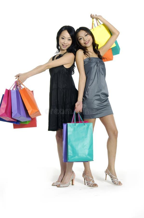 Compra asiática da beleza foto de stock royalty free