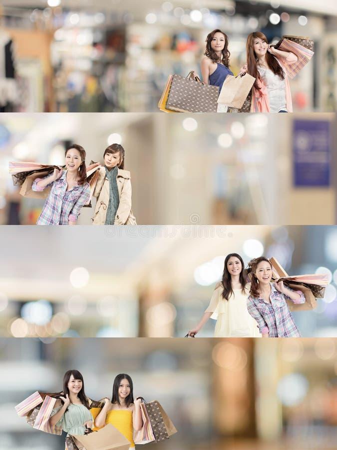 Compra asiática da mulher foto de stock royalty free