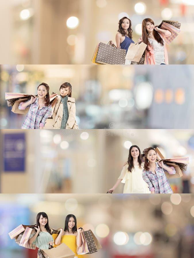 Compra asiática da mulher imagens de stock