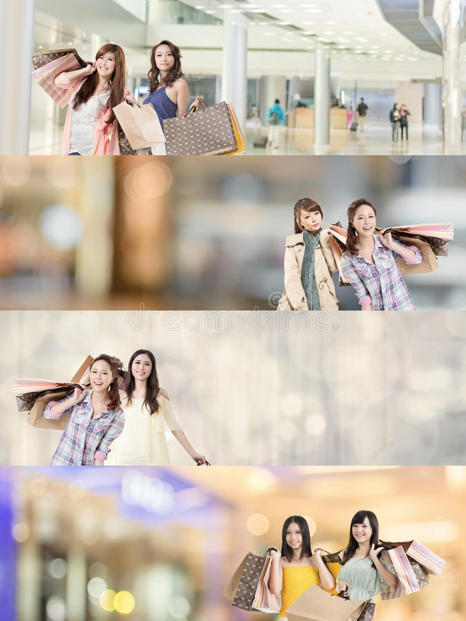 Compra asiática da mulher fotos de stock royalty free