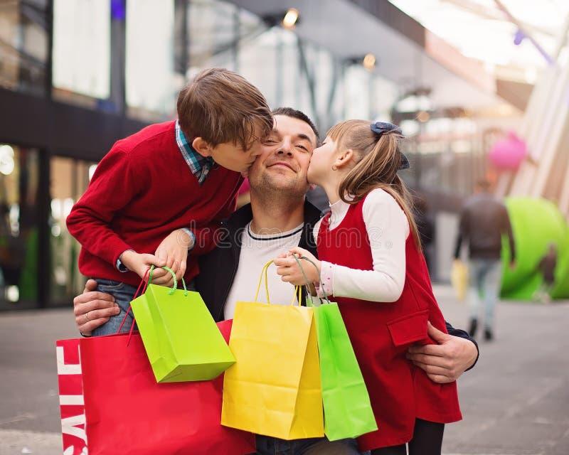 Compra, conceito de família imagem de stock royalty free