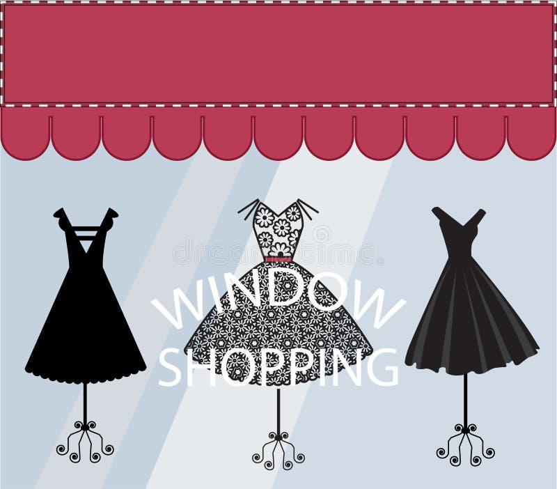 Compra da janela ilustração royalty free