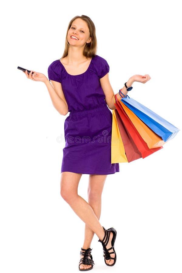 Compra da mulher foto de stock