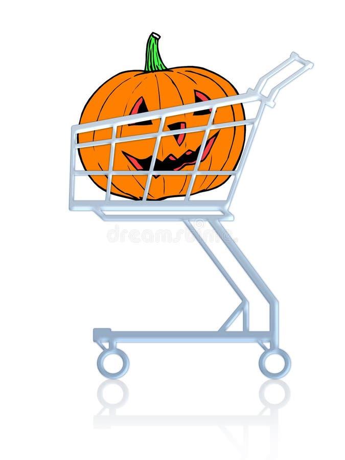 Compra de Halloween ilustração do vetor