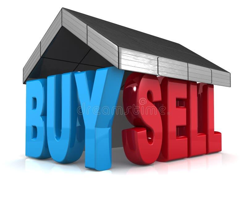 Compra de la característica y concepto de la venta ilustración del vector
