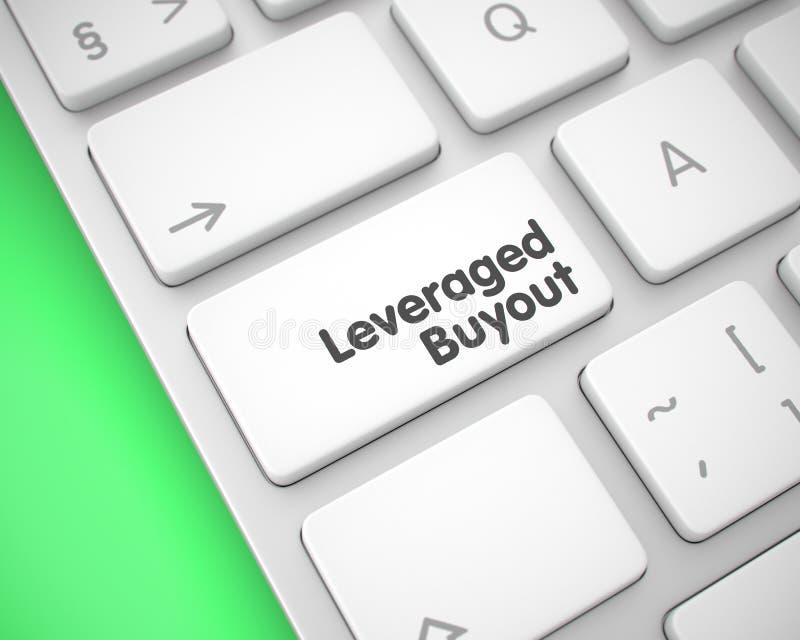Compra de participaciones apalancada - texto en el telclado numérico blanco del teclado 3d stock de ilustración