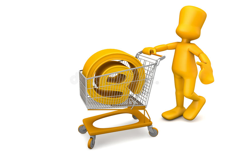 Compra de un dominio ilustración del vector