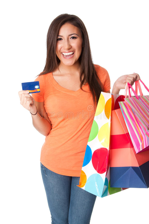 Compra do cartão de crédito imagens de stock