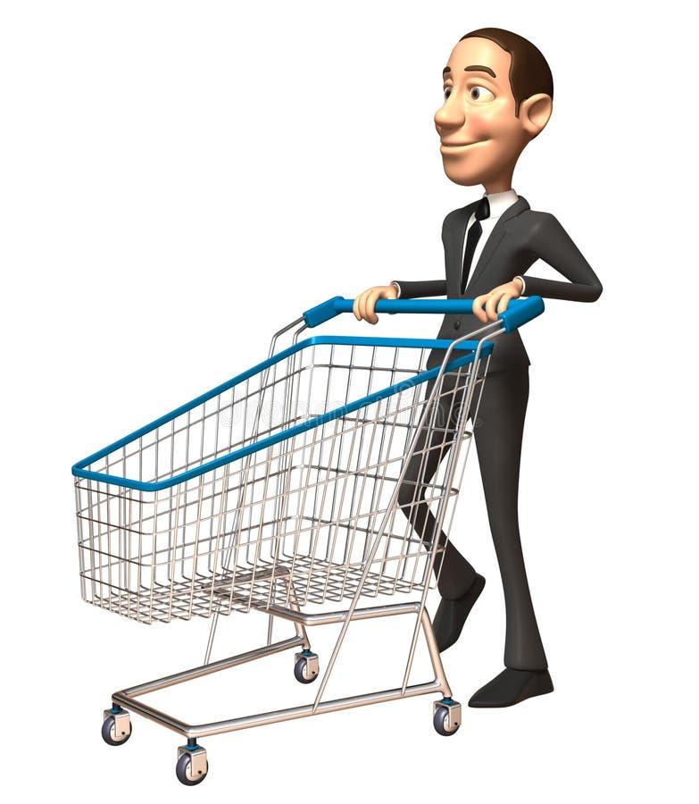 Compra do homem de negócio ilustração do vetor