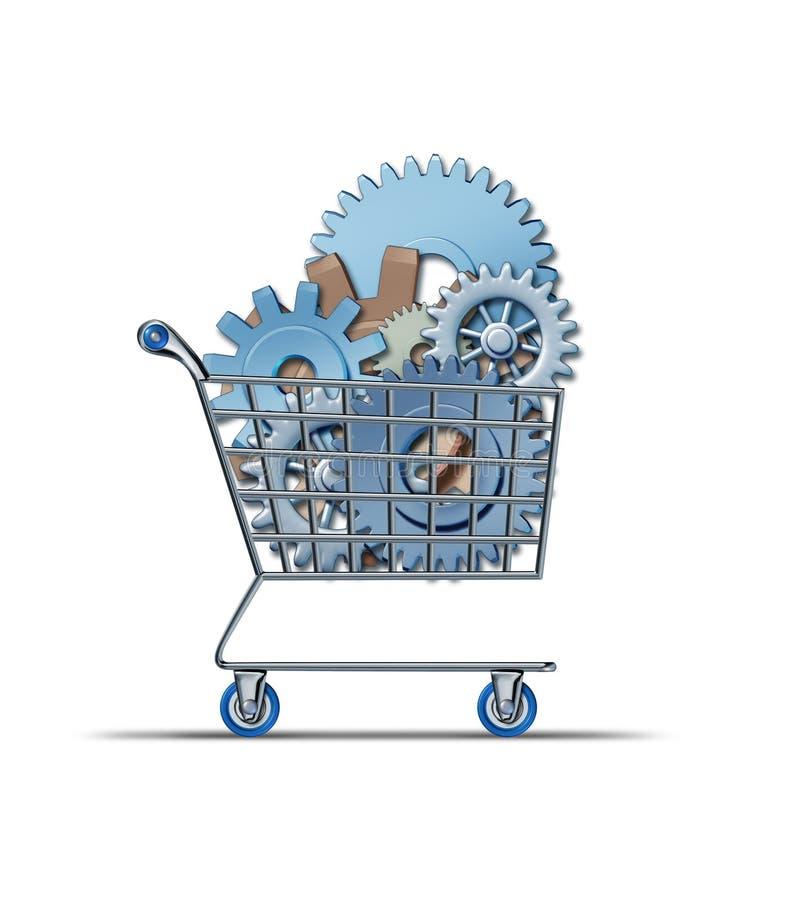 Compra do mercado de valores de acção ilustração stock