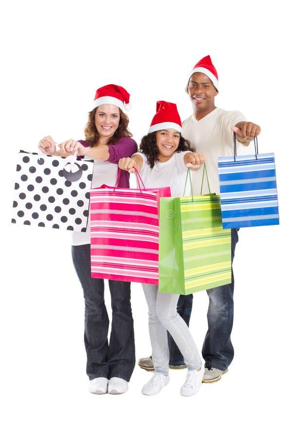 Compra do Natal imagens de stock royalty free