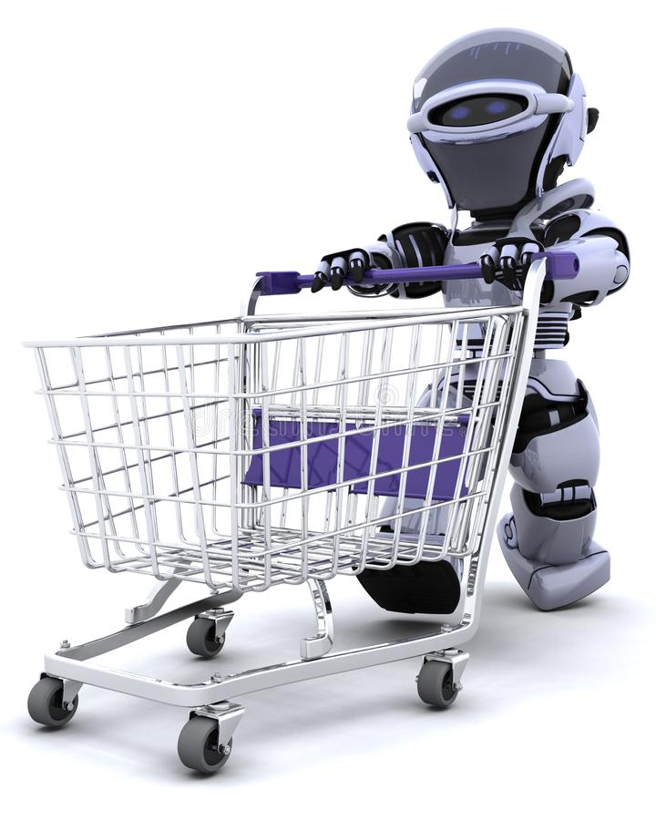 Compra do robô ilustração do vetor