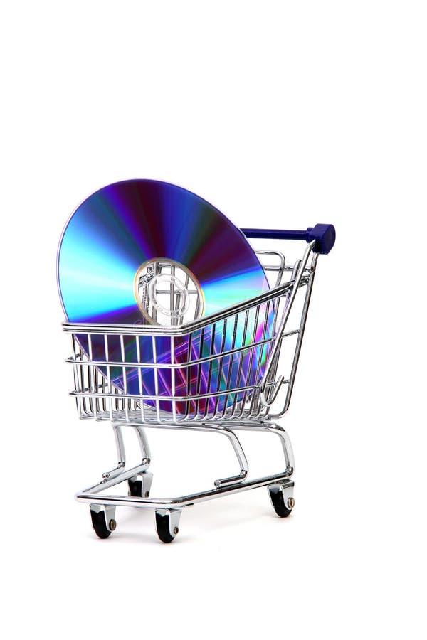 Compra do software fotografia de stock