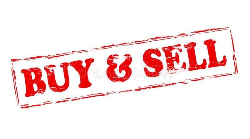 Compra e sell ilustração do vetor
