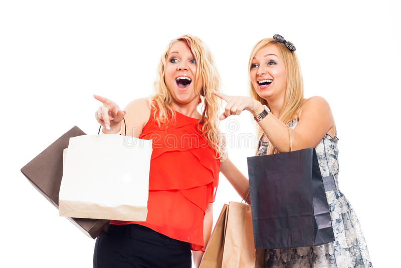Compra ectática das mulheres imagens de stock