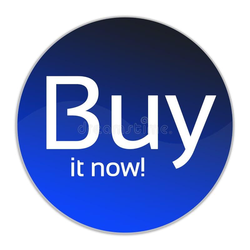 A compra em agora abotoa-se foto de stock