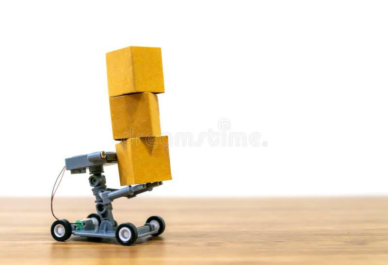 Compra em linha da entrega do robô automática fotografia de stock royalty free