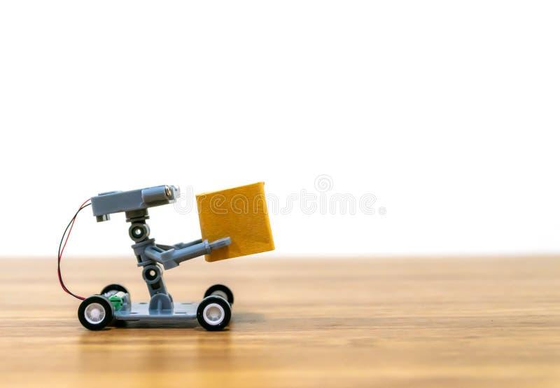 Compra em linha da entrega do robô automática fotos de stock royalty free