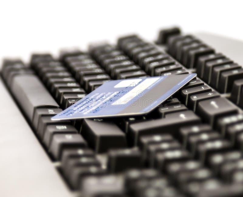 Compra em linha do cartão de crédito foto de stock royalty free