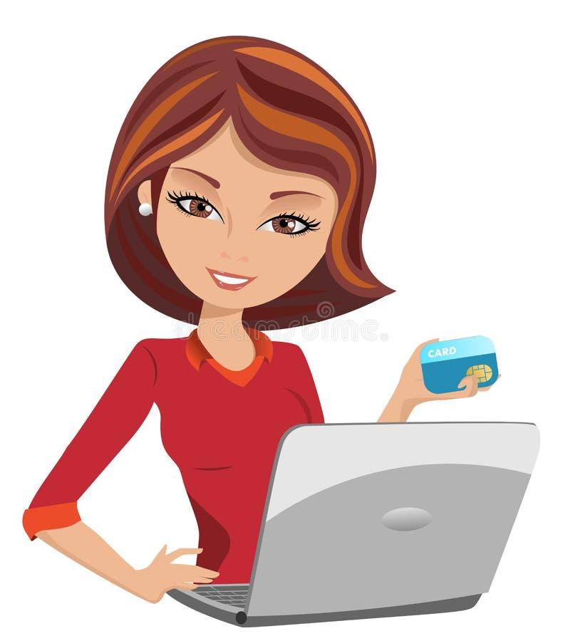 Compra en línea stock de ilustración