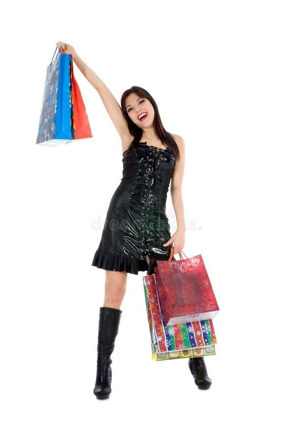 Compra expressivo da mulher imagens de stock royalty free