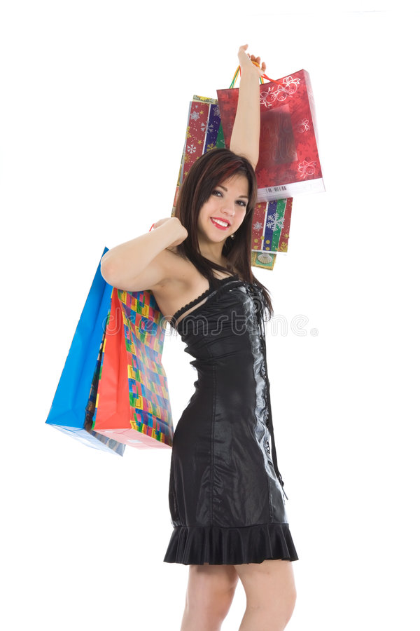 Compra expressivo da mulher foto de stock royalty free