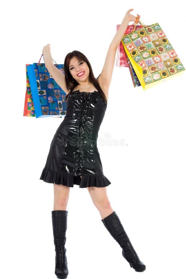Compra expressivo da mulher fotos de stock