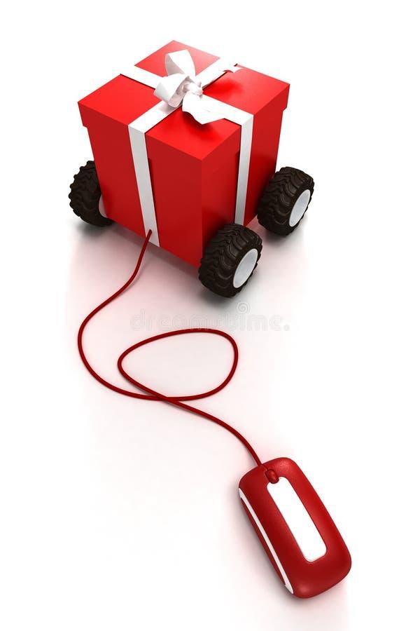 Download Compra fácil do Natal ilustração stock. Ilustração de fita - 10067928